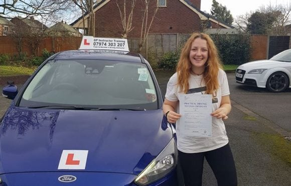 A huge congratulations to Róisín Galligan for passing her driving test on 25/01/2018 in sale.