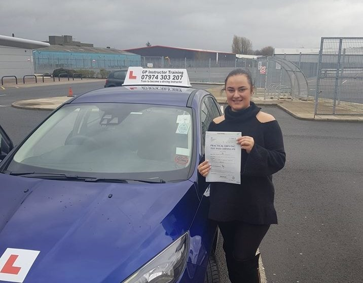 A massive congratulations to Shelby Sheridan for passing her driving test 24/1/2018 in Bredbury.