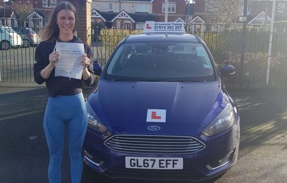 Huge congratulations to Johanna Gustavasson for passing her driving test today in sale with only 1 driver fault a fantastic drive well done.