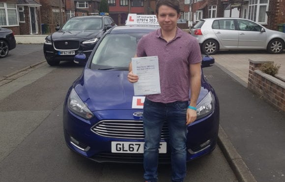 Congratulations to jon for passing his driving test in west didsbury on 29/03/2018