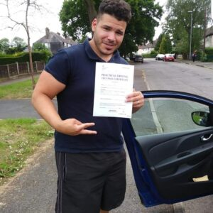 Congratulations to Marcus for passing his driving test first time on 13/06/2018 in sale with trainee instructor Louise.