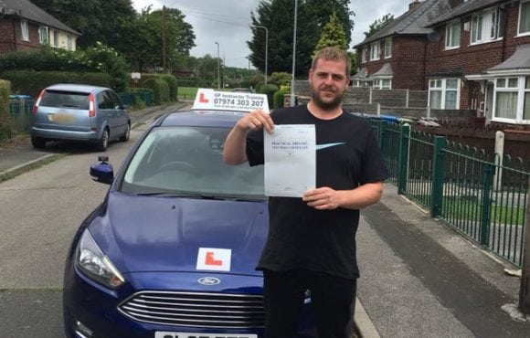 Congratulations to Jason for passing his driving test on 14/06/2018 in sale today. Fantastic drive well done