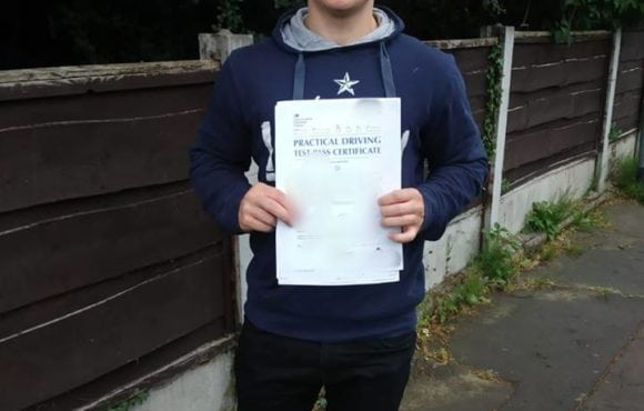 Congratulations to Matthew for passing his driving test first time on 16/06/2018 in sale with trainee instructor Louise. Well done to you both