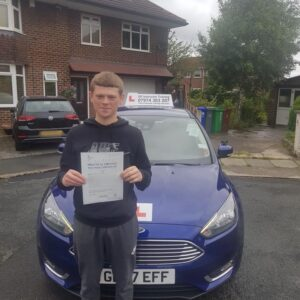 Congratulations to James Heslop for passing his driving test on 20/06/2018 in sale fantastic drive well done